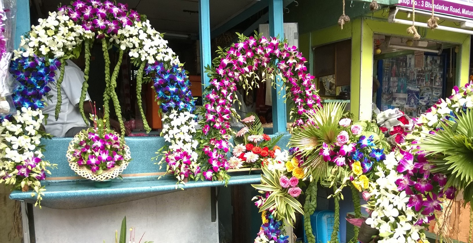 artificial flower decoration for ganpati festival